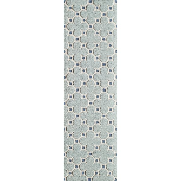 Sharell Hand-Tufted Blue Area Rug by Winston Porter