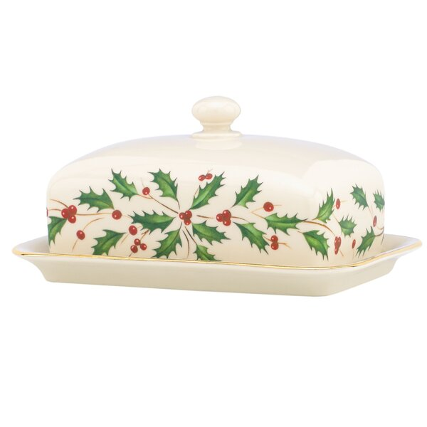 Holiday Covered Butter Dish by Lenox