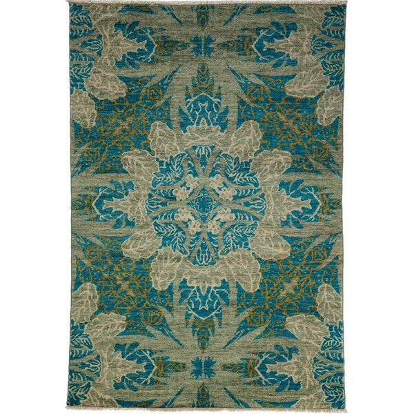 One-of-a-Kind Ziegler Hand-Knotted Blue / Gray Area Rug by Darya Rugs