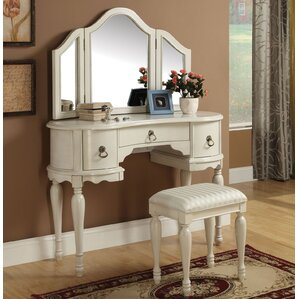 Trini Vanity Set with Mirror by A&J Ho..