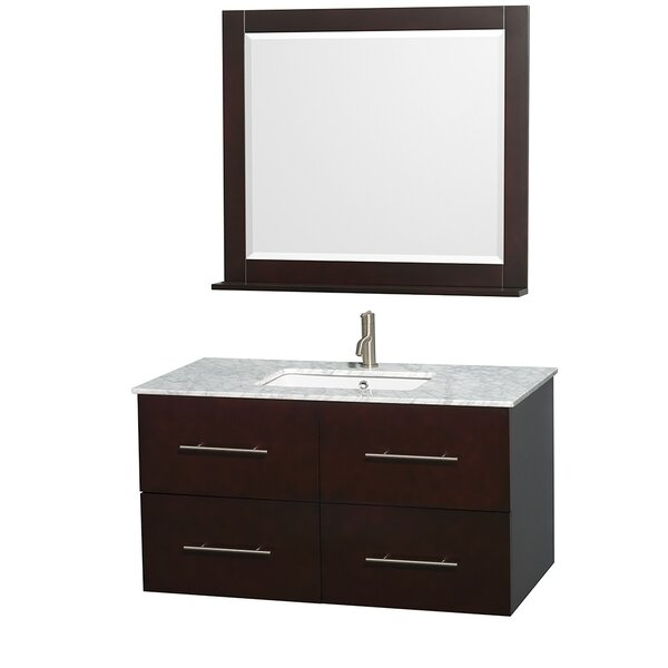 Centra 42 Single Espresso Bathroom Vanity Set with Mirror by Wyndham Collection