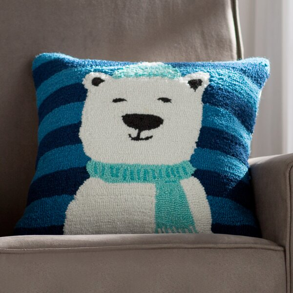 Polar Bear Winter Pillow Cover by Viv + Rae