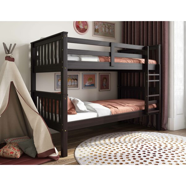 Helzer Mission Twin Over Twin Bed by Harriet Bee