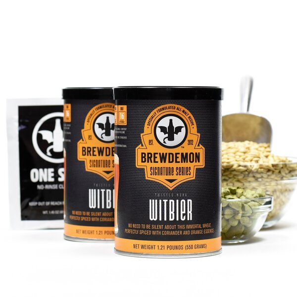 2 Gal Twisted Monk Witbier Refill Kit by BrewDemon