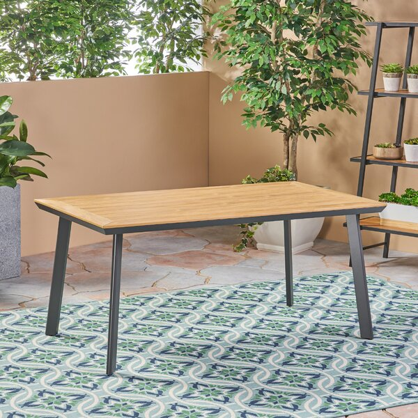Lundell Solid + Manufactured Wood Dining Table By Ivy Bronx