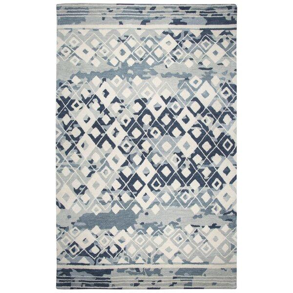 Hargis Hand-Tufted Wool Gray/Cream Area Rug by Ivy Bronx