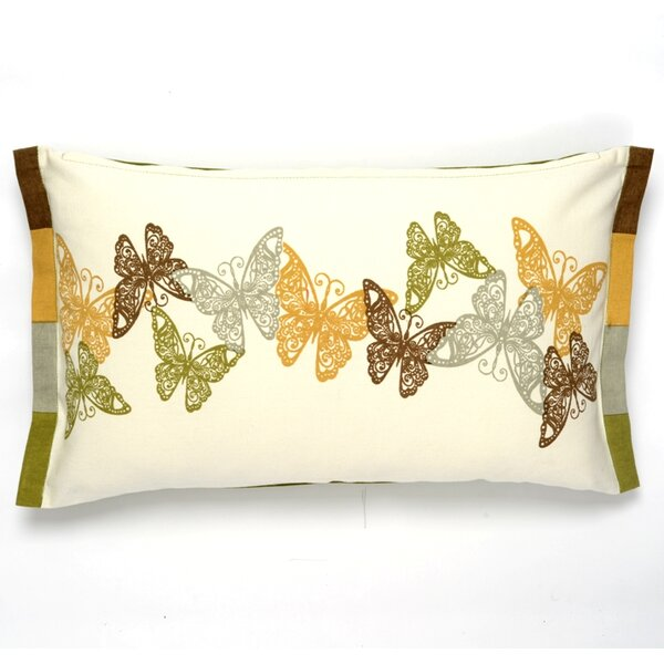 Butterfly Cotton Pillow Cover by Darzzi