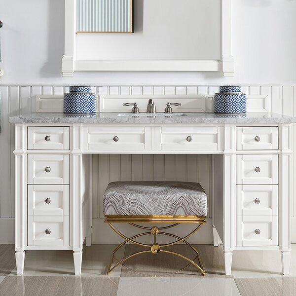 Dussault 60 Single Cottage White Bathroom Vanity Set by Darby Home Co