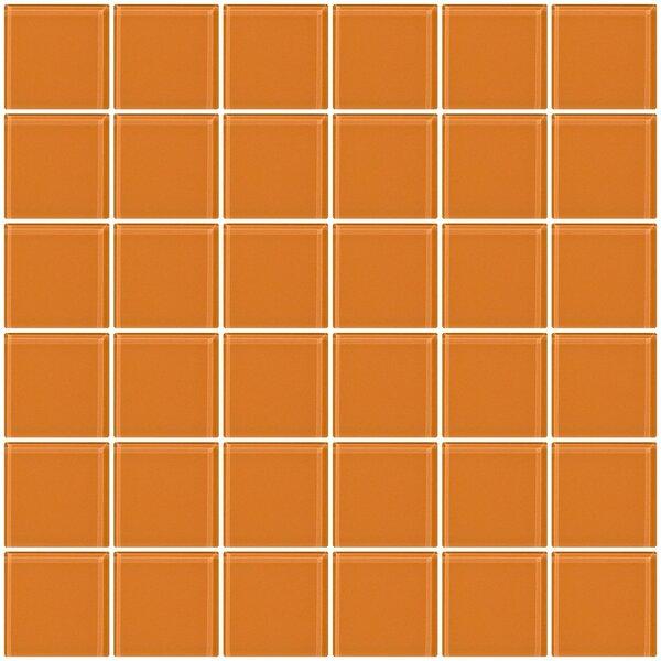 Bijou 22 2 x 2 Glass Mosaic Tile in Apricot Orange by Susan Jablon
