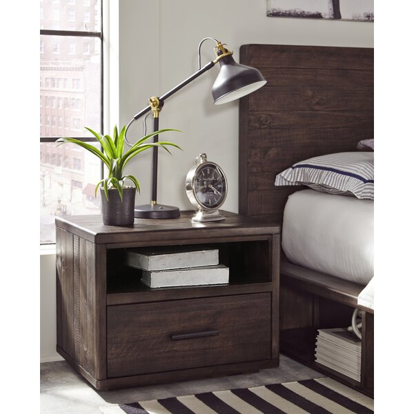 Ballesteros 1 Drawer Nightstand by Millwood Pines