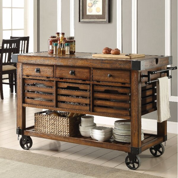 Belfield Wood & Metal Kitchen Cart by Gracie Oaks