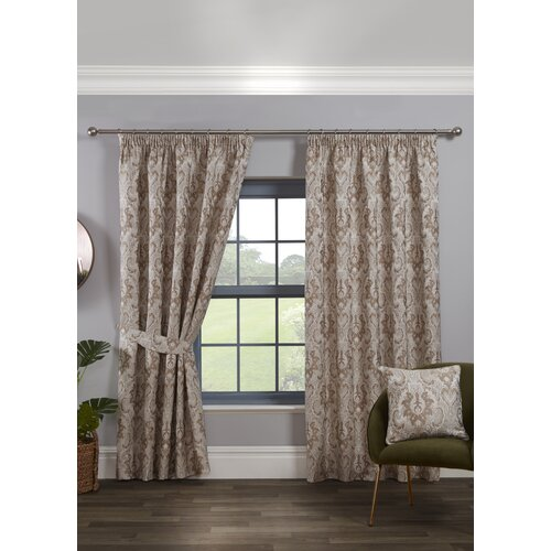 Cadnite Room Darkening Thermal Curtains Marlow Home Co. Colour: Latte, Panel Size: 229 W x 183 D cm