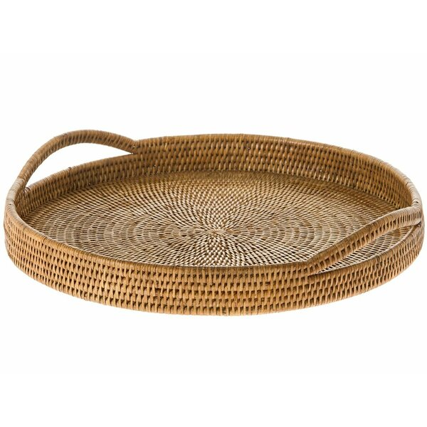 Telford Handwoven Round Serving Tray by Mistana