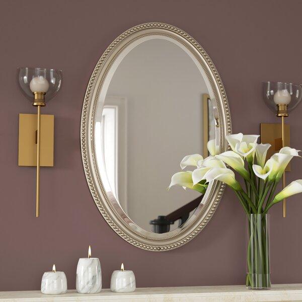 Oval Metallic Accent Mirror by Rosdorf Park