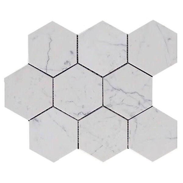 4 x 4 Marble Honeycomb Mosaic Wall & Floor Tile