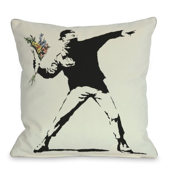 Rage Flowers Throw Pillow by One Bella Casa