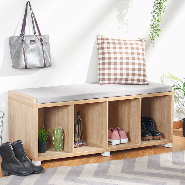 Bebe Upholstered Cubby Storage Bench