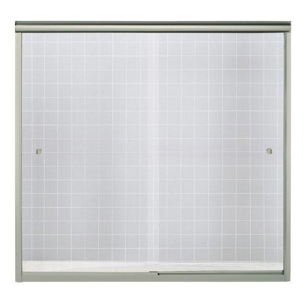 Finesse 59.63 x 58.06 Bypass Shower Door with CleanCoat® Technology by Sterling by Kohler