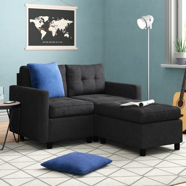 Bainville Reversible Modular Sectional With Ottoman By Three Posts