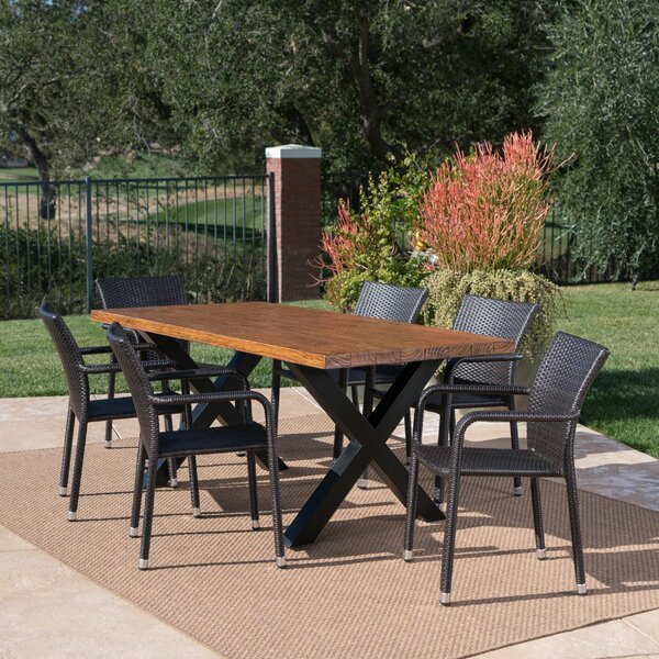 Mangold Outdoor 7 Piece Dining Set by Union Rustic