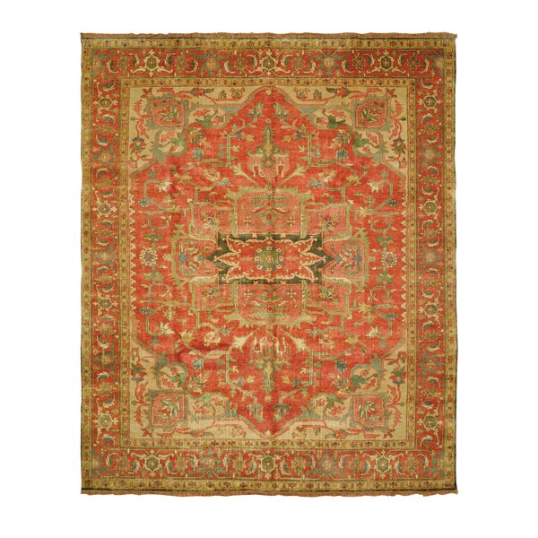Jules Serapi Terracotta/Gold Area Rug by Shalom Brothers
