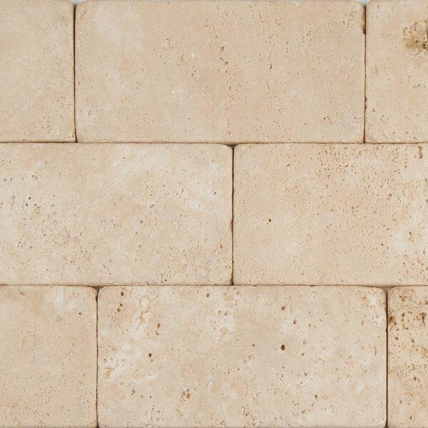 Durango 3 x 6 Travertine Subway Tile in Tumbled  Cream by MSI