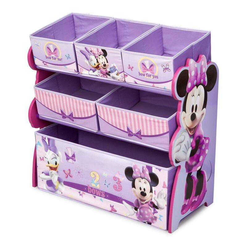 Delta Children Minnie Mouse Multi-Bin Toy Organizer & Reviews   Wayfair