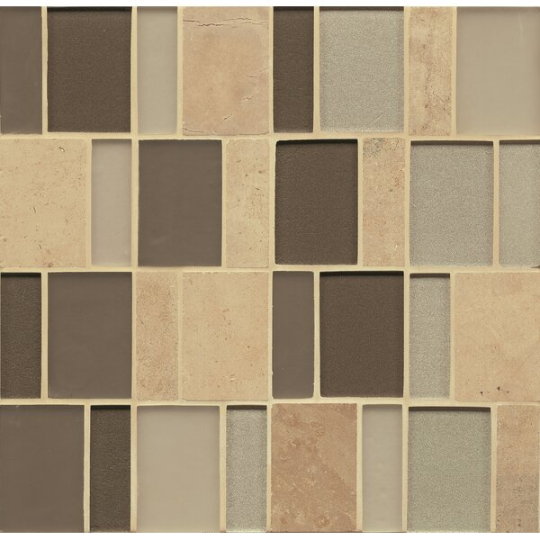 Remy Glass 12 x 12 Stone/Glass Mosaic Brick Blends in Mercer by Grayson Martin