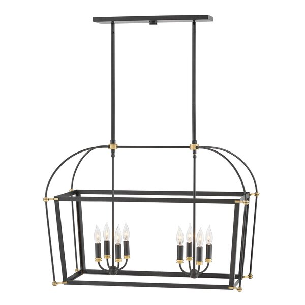 Aldusa 8 - Light Candle Style Square / Rectangle Chandelier By Corrigan Studio
