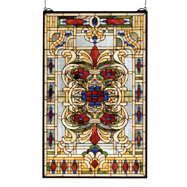 Victorian Estate Floral Stained Glass Window by Meyda Tiffany