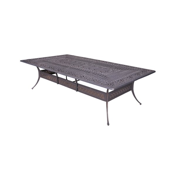 Quintin Metal Dining Table by Fleur De Lis Living