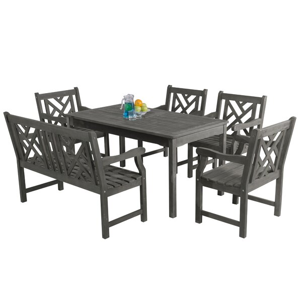 Zephyrine 6 Piece Dining Set by Beachcrest Home
