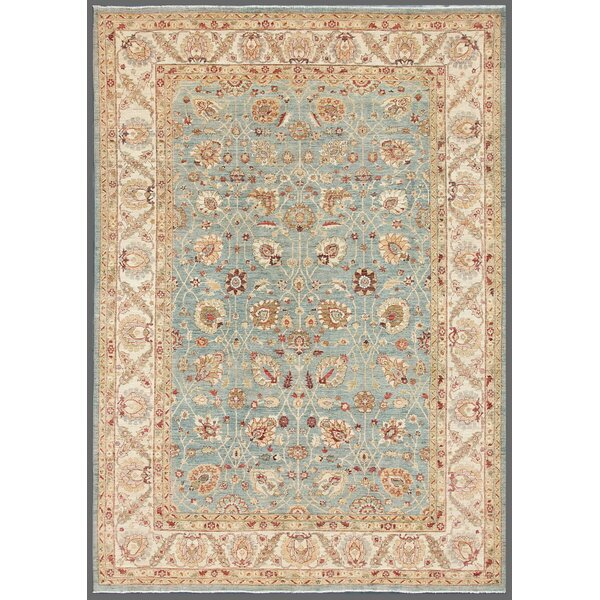 Ferehan Hand-Knotted Light Blue Area Rug by Pasargad