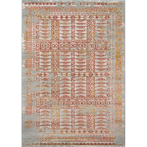Daisie Blue/Brown Area Rug by Bungalow Rose