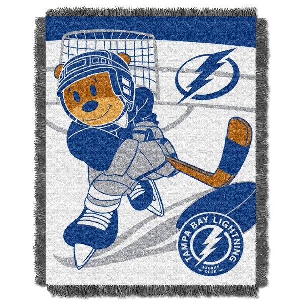 NHL Lightning Baby Woven Throw Blanket by Northwest Co.