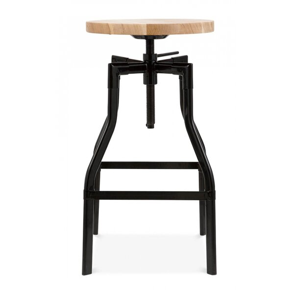 Machinist Adjustable Height Swivel Bar Stool by Design Lab MN