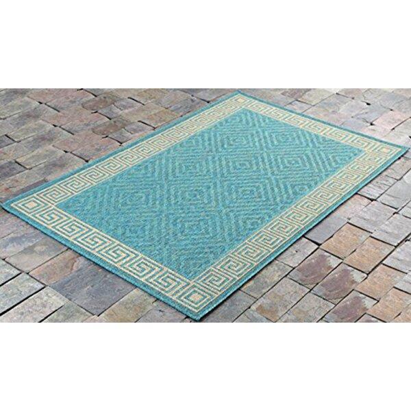 Fairbury Geometric Blue Indoor/Outdoor Area Rug