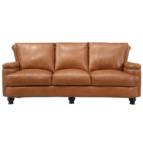 Deakin Leather Sofa by Canora Grey