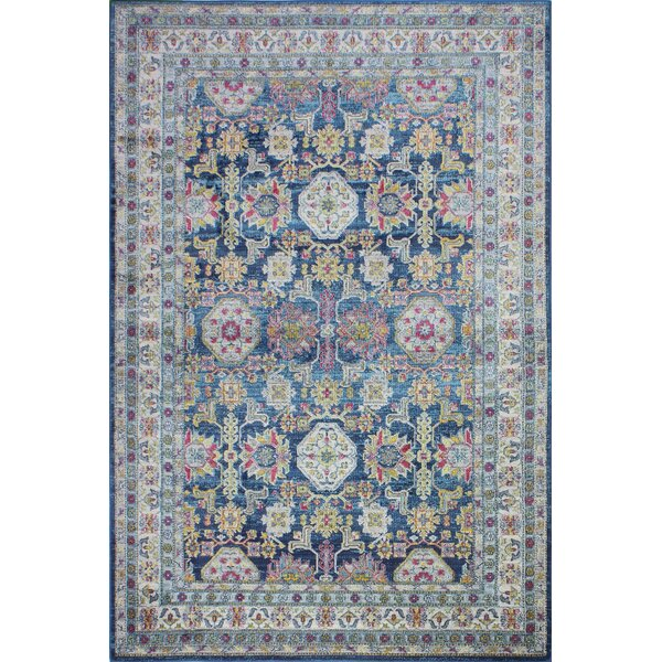 Goldie Navy Area Rug by Bungalow Rose