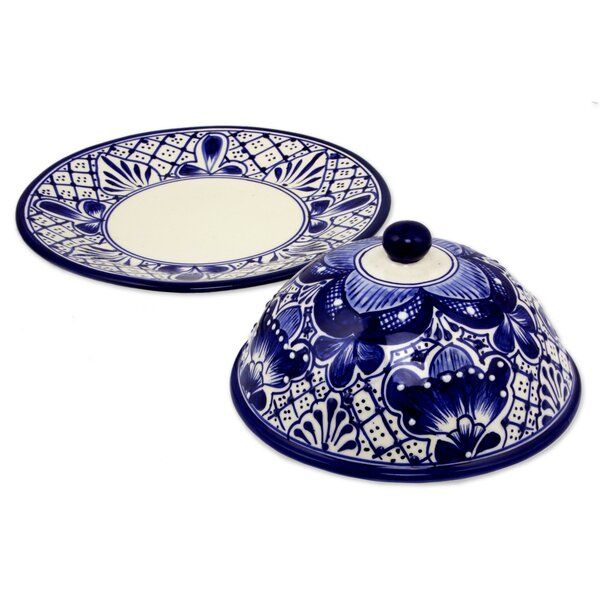 Inspired Covered Ceramic Cheese Platter by Novica
