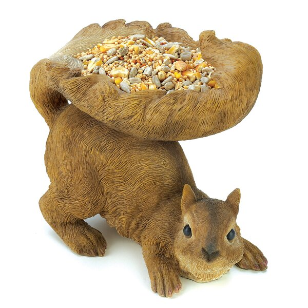 Squirrely Wildlife Decorative Tray Bird Feeder by