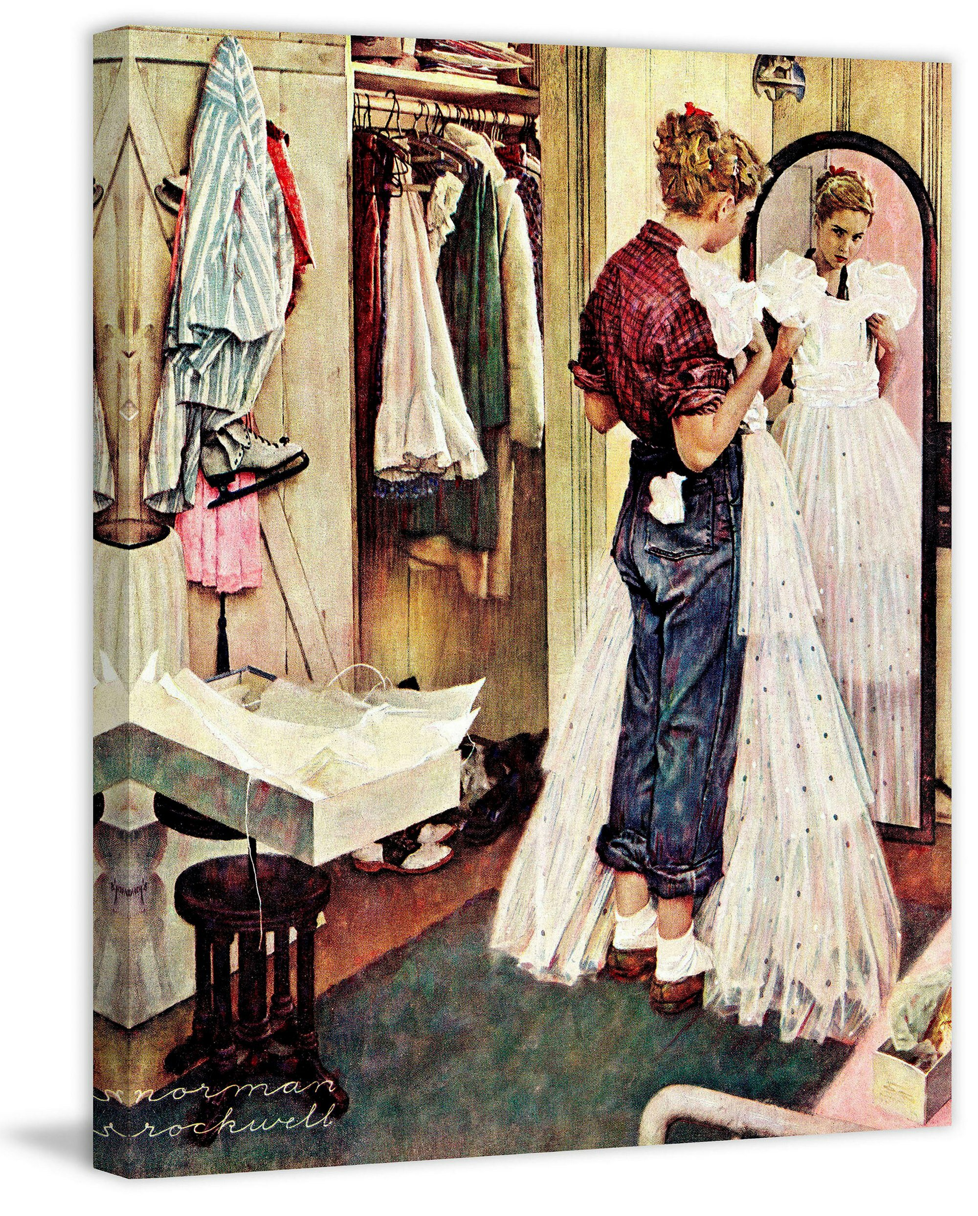 Marmont Hill 'Prom Dress' by Norman Rockwell Painting Print on ...