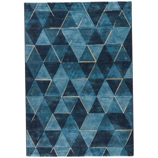 Shivani Blue/Navy Area Rug by Ebern Designs