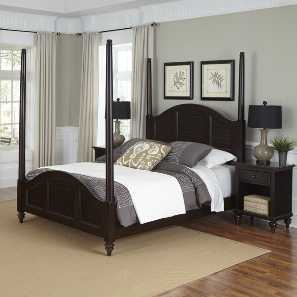 Harrison Four Poster 3 Piece Bedroom Set With Drawers by Beachcrest Home