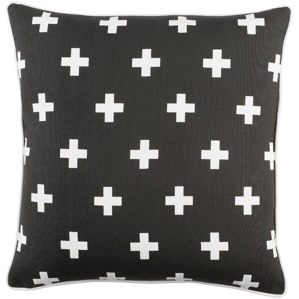 Antonia Cross Cotton Throw Pillow by Langley Street
