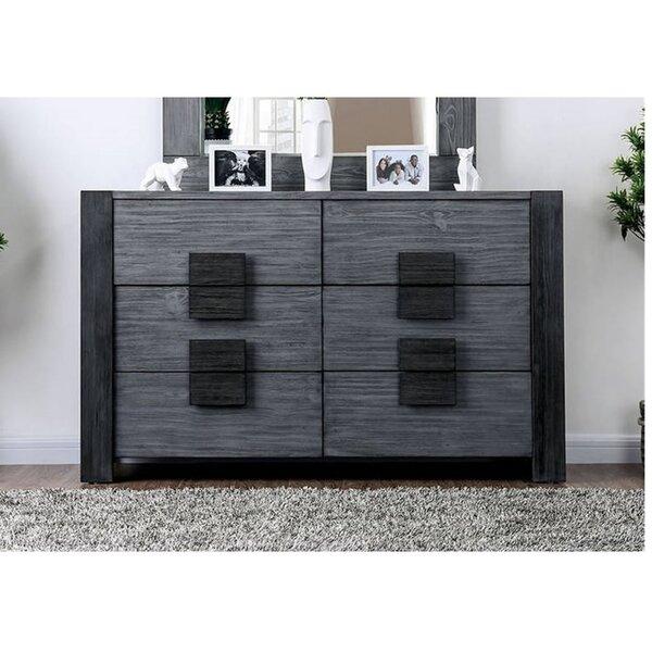 Kiker 6 Drawer Double Dresser by Brayden Studio