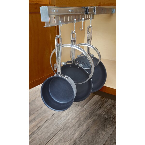 Rebrilliant Peyton Pull Out Pot Pan And Lid Cabinet Organizer