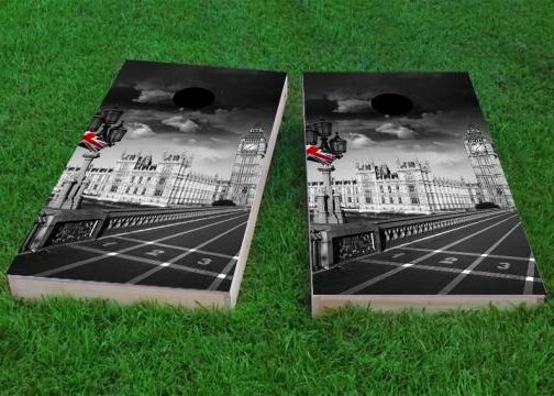 London England Cornhole Game (Set of 2) by Custom Cornhole Boards