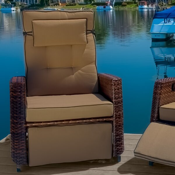 Foye Wicker Manual Glider Recliner (Set of 2) RBSD3898