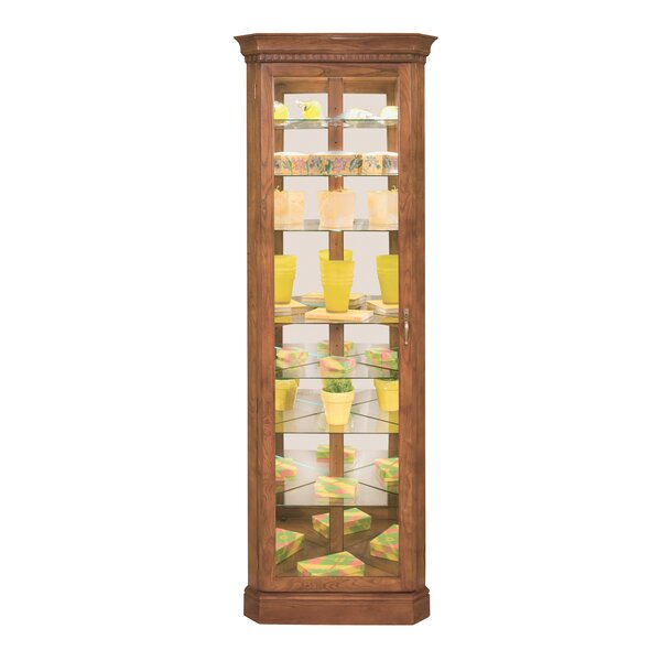 Shelia Lighted Corner Curio Cabinet by Darby Home Co Darby Home Co